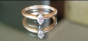 Stunning 14K yellow gold Marquise cut .25CT genuine diamond ring size 6 for Sale in Lake Stevens, WA