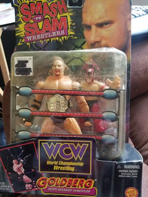 GOLDBERG ACTION FIGURE with bonus rey mystereo style masked wrestler for Sale in Bremerton, WA