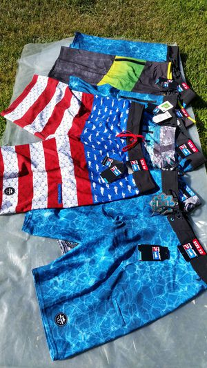 Pelagic Fishing Boardshorts Brand New With Tags! Sizes 30,32,34,36 for Sale in Corona, CA