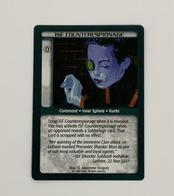 Battletech TCG ISF Counterespionage Green Wizards of the Coast CCG Trading Card for Sale in Oregon City,  OR