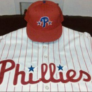 Philadelphia Phillies Jersey / Hat for Sale in Litchfield Park, AZ