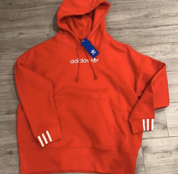 ADIDAS🍄 Oversized Coeeze Red Hoodie