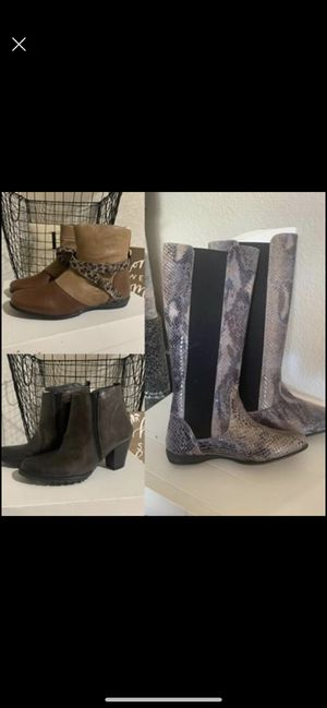 Helle comfort spa is designer brand brand new shoes boots leather women's for Sale in Corona, CA