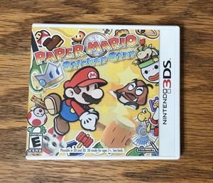 Paper Mario Sticker Star COMPLETE for Nintendo 3DS video game system new 2ds xl Bros brothers for Sale in Cleveland, OH