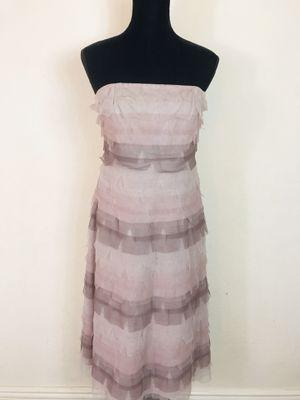 BCBGMaxAzria Lace Tiered Strapless Beaded Dress Size 6 for Sale in El Cajon, CA