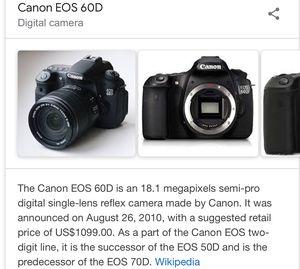 Canon 60D 18.1 megapixel digital camera bundle for Sale in Hoquiam, WA