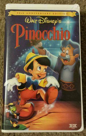 WALT DISNEY PINOCCHIO 60th ANNIVERSARY EDITION VHS. for Sale in Mesa, AZ