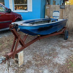 13 1/2 foot fiberglass Jon boat and Trailer for Sale in Largo, FL