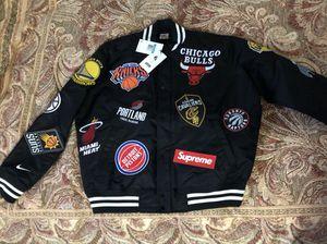 Supreme Nike NBA Warm Up varsity Jacket Black Medium for Sale in New York, NY