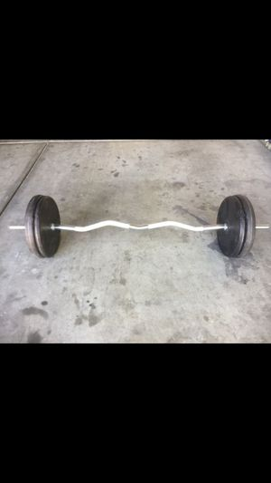 weights w/ curl bar for Sale in Las Vegas, NV