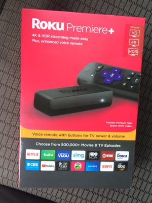 Roku premiere+ brand new unopened for Sale in Greenville, SC