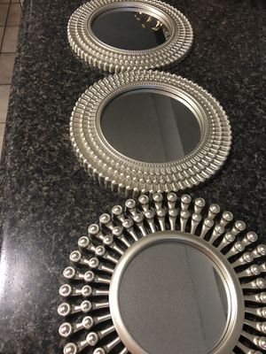 Mirrors set 3 soft gold for Sale in Brandon, FL