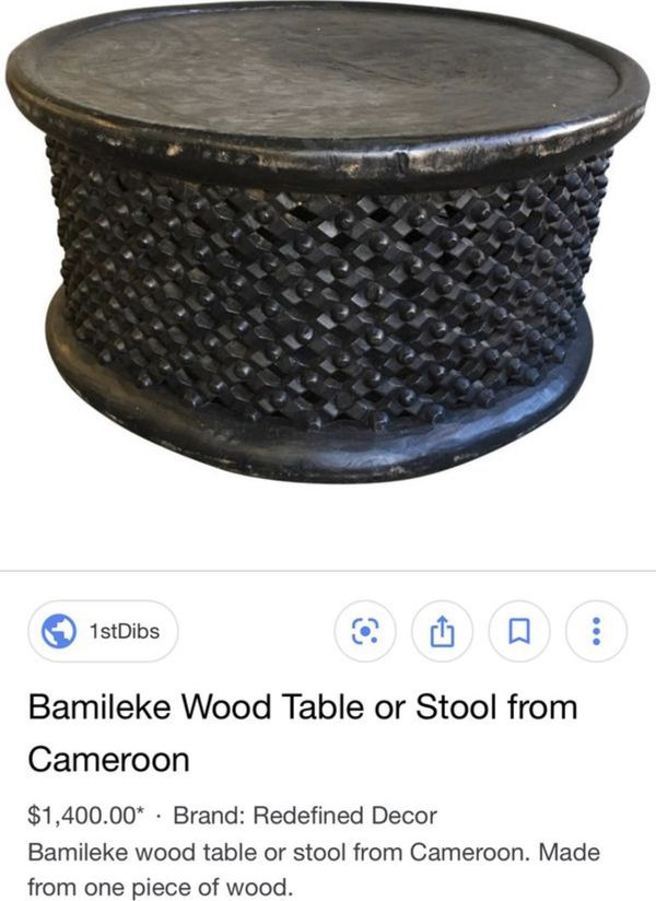Bamileke tables stools from Cameroon