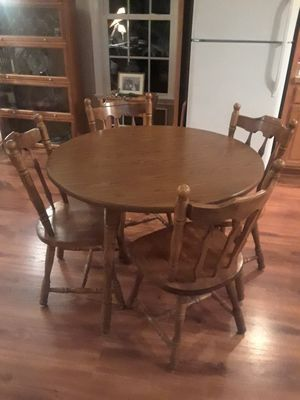 Solid wood dining table and chairs for Sale in Gum Spring, VA