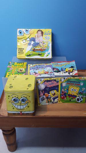 SPONGE BOB BOOKS, PUZZLE & GAME for Sale in Bainbridge, MD