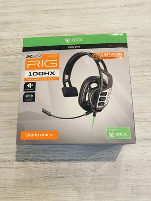 Plantronics RIG 100HX Camo Chat Gaming Headset for Xbox One NEW SEALED for Sale in Homestead, FL