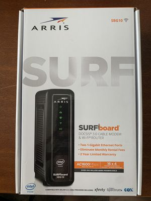 Arris Surfboard modem router (xfinity, spectrum, cox approved) for Sale in Houston, TX