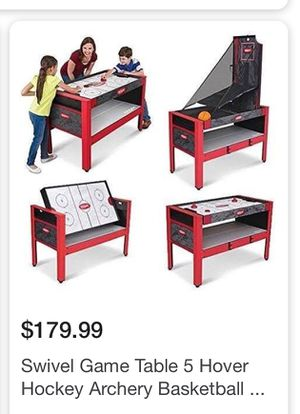 5 in 1 swivel gaming table for Sale in Houston, TX