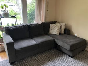 Grey, L-Shaped Sectional Sofa Couch for Sale in Rockville, MD