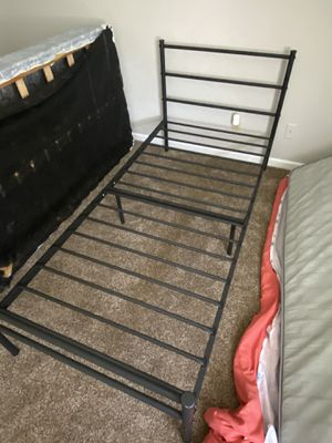 Black twin sized bed frame for Sale in St. Louis, MO