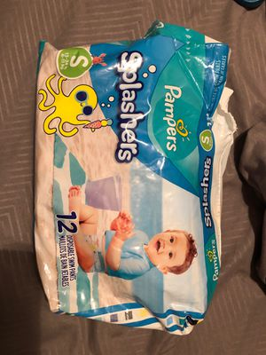 $8 - Pampers Splashers - partial pack of 9 - size S - 13-24 lb for Sale in Nolensville, TN