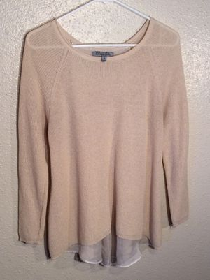 Like New Whip Cream Women's OLIVIA SKY Long Sleeve Lining Sweater Tunic in package - Size M-L for Sale in Austin, TX