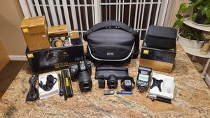 Nikon D7200 DSLR Camera, SB910 Speed Flash, 18-140VR & 50mm Lenses, 2x Batteries, remote & more extras!!! for Sale in Hartford, CT