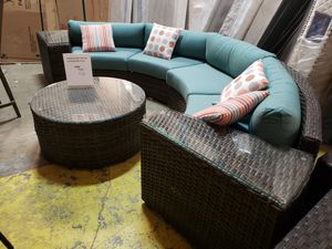 New 5pc outdoor patio furniture seating set sunbrella fabric tax included delivery available for Sale in Hayward, CA