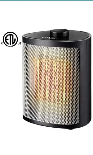 Ceramic Portable Space Heater with Adjustable Thermostat-Perfect for The Home and Office, 750W/1500W, Black for Sale in Cary, NC