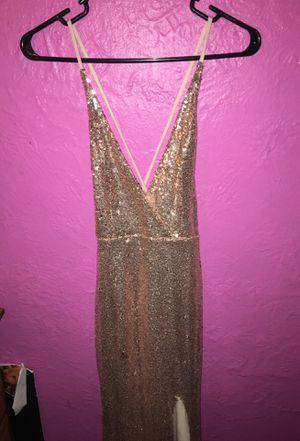 Rose gold sequins prom dress for Sale in BRECKNRDG HLS, MO