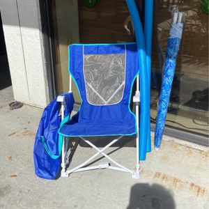 Beach/Fishing Chair With Umbrella And Swimming Sticks for Sale in St. Petersburg, FL