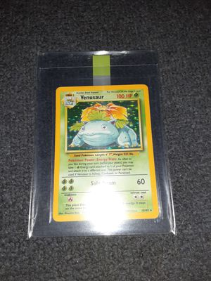 Pokemon cards vintage base set venusaur near mint for Sale in Bristol, PA