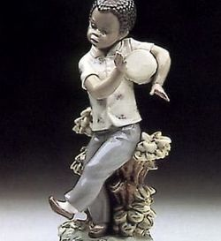 """Lladro Figurine """"BONGO BEAT"""" #5157- With Box Caribbean DRUMMER- Black Legacy Collection -Ret 1998 - MINT for Sale in Fort Lauderdale,  FL"""