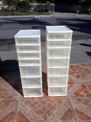 Plastic organizers drawers for Sale in El Monte, CA