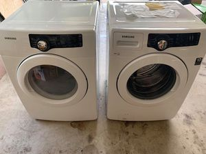 Samsung electric front load set washer and dryer in great condition 🔥🔥 for Sale in Rahway, NJ