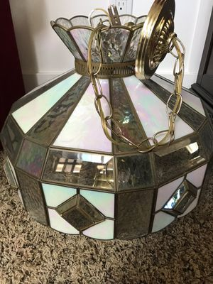 Stained glass chandelier for Sale in Mill Creek, WA