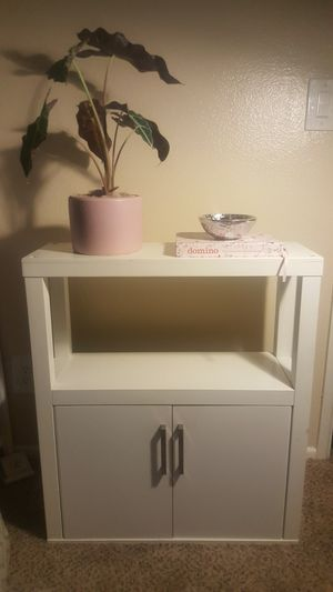 White Storage Shelf/ Cabinet/ Buffet/ Organizer/ Entry Way Table/ Floating Wall Storage Cabinet 🚫 S-E-R-I-O-U-S I-N-Q-U-I-R-I-E-S O-N-L-Y 🚫 for Sale in Phoenix, AZ