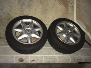 """Mercedes rims 16"""" and continental tires for Sale in St. Louis, MO"""