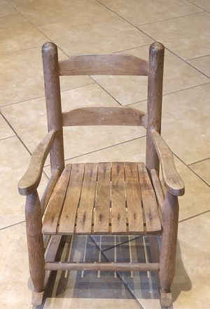 Antique small child's sturdy solid wood rocking chair for Sale in Tucson, AZ