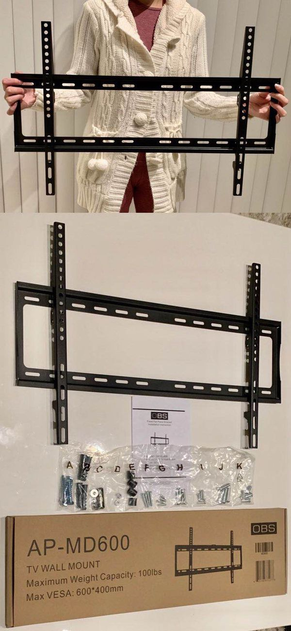 "New universal 32 to 65 inch LCD LED Plasma Flat Fixed TV Wall Mount stand 32 37"" 40"" 42 46"" 47 50"" 52 55"" 60 65"" inch tv television bracket 100lbs ca"