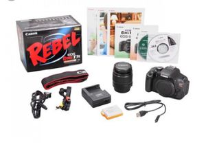 Canon t3i rebel box and accessories included! for Sale in Houston, TX