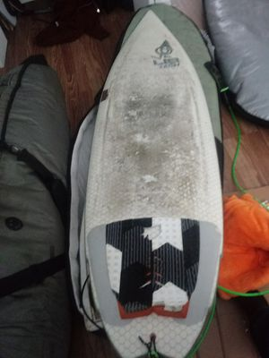"""Used 6'2"""" libtec ringer surfboard and two board bags for Sale in Sammamish, WA"""