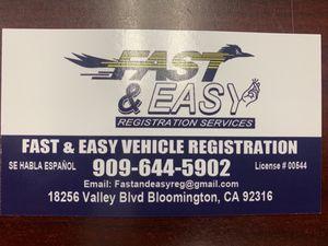 Registraciones en MINUTOS for Sale in Bloomington, CA