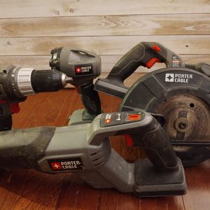 Porter Cable Circular Saw, Drill, Sawzaw, and Flashlight without Battery for Sale in Philadelphia, PA