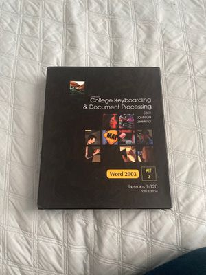 College keyboards &document processing/cd lessons/complete kit. for Sale in Salinas, CA