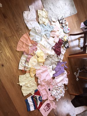 Lot of antique and vintage baby or doll clothing and shoes and bonnets 40 items!!!!!! for Sale in Boring, OR