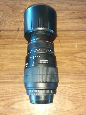 Sigma Nikon Mount 70-300 5.6 Lens for Sale in Glendale, OH
