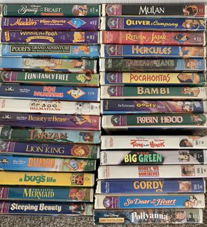 30 DISNEY VHS MOVIES for Sale in Ocala, FL