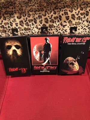 Jason Friday the 13th movie NECA lot 3 toys action figures dolls just in time for Halloween for Sale in Beverly Hills, CA