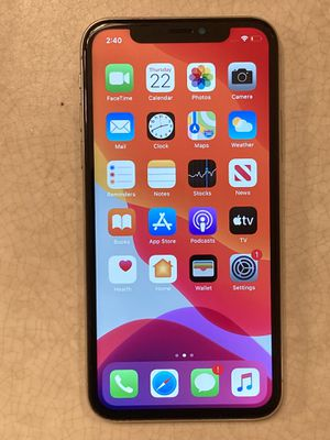 Unlocked iPhone X 64gb with charger for Sale in Margate, FL